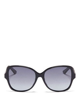 'Montaigne' colourblock acetate butterfly sunglasses