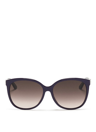 'Montaigne' colourblock acetate oversize butterfly sunglasses