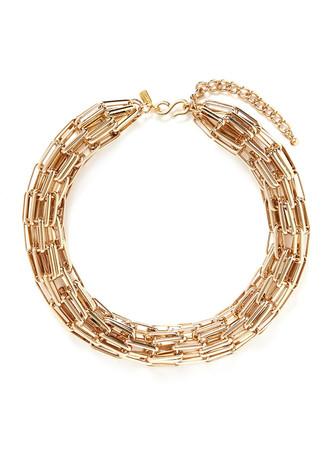 Multi chain tube necklace
