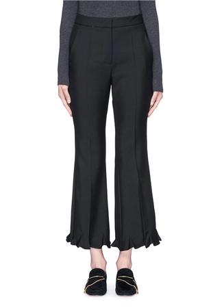 'Myles' ruffle cuff wool-mohair pants