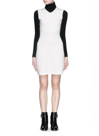 'Myrelle' stretch wool turtleneck dress