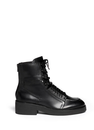 'Neal' lace-up leather combat boots