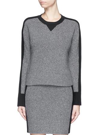 'Nina' contrast intarsia wool-cashmere sweater