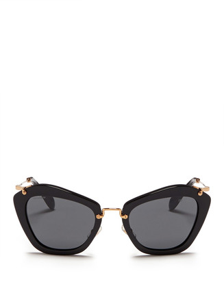 'Noir' cat eye acetate sunglasses