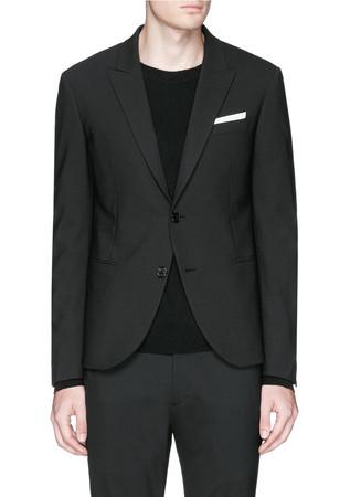 Notch lapel skinny fit blazer