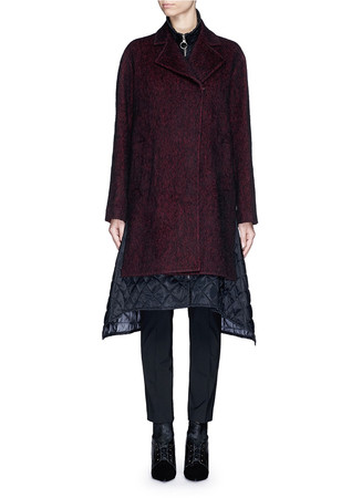 Notched lapel wool-alpaca oversize coat