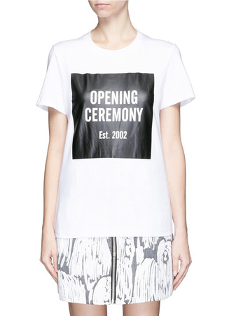 'OC' mirrored logo T-shirt