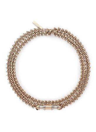 'Obsedia' bar curb chain collar necklace