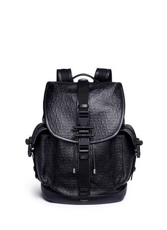 'Obsedia' star and trident embossed leather backpack