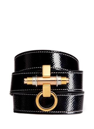 'Obsedia' triple wrap coated leather bracelet