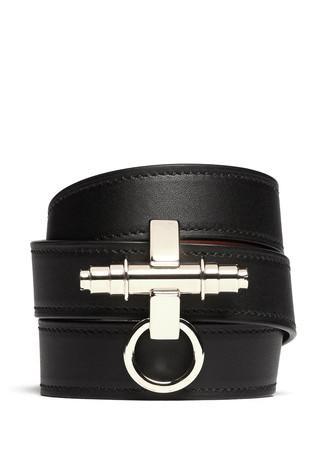 Obsedia triple wrap leather bracelet