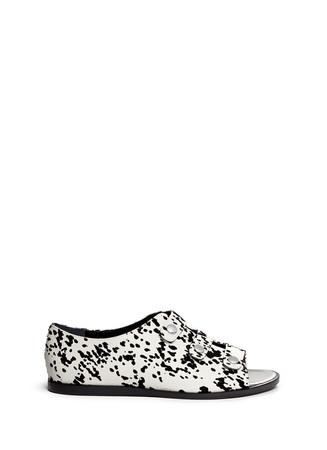 'Olivia' velvet flock leather sandals