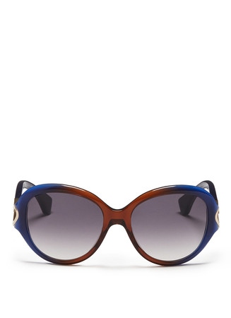 Ombré acetate cat eye sunglasses