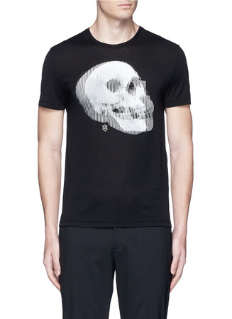 Optic skull print jersey T-shirt