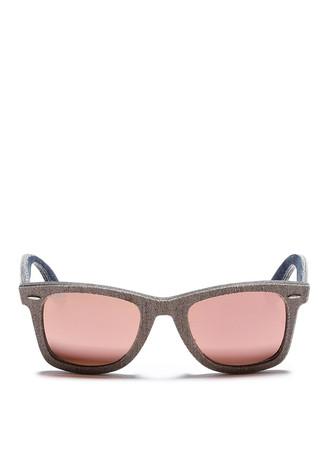 'Original Wayfarer Denim' mirror sunglasses