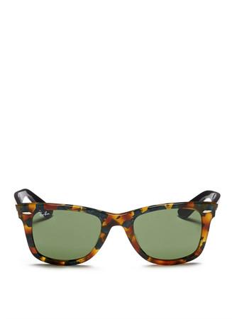 'Original Wayfarer' contrast temple acetate sunglasses