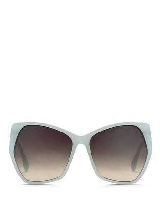 Oversize slim angular acetate sunglasses