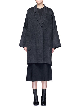 Oversized double faced wool-cashmere cape coat