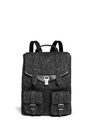 'PS1' XL felt leather backpack