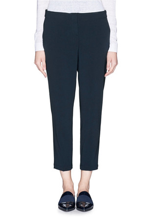 'Padra' elastic waist cropped pants