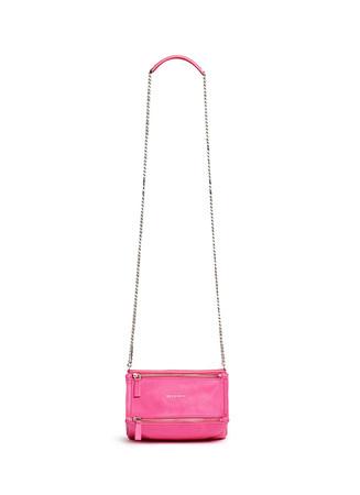 'Pandora' mini chain goat leather bag