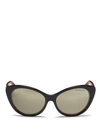 'Paradise Beach' shell effect temple acetate cat eye sunglasses