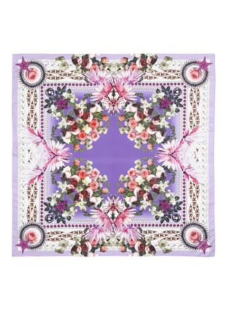 Paradise flower print cotton-silk scarf
