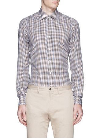 'Parma' micro gingham check shirt
