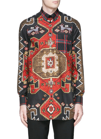 Persian carpet print tunic shirt