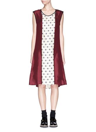 'Pierre' foulard pattern silk dress