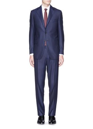 Pinstripe wool suit