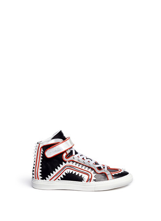 'Piranarama' zigzag high top sneakers