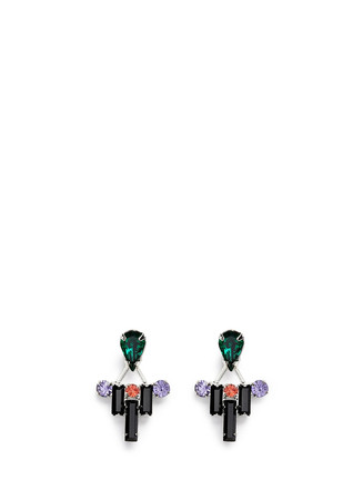 'Pixel Perfect' crystal ear deco earrings