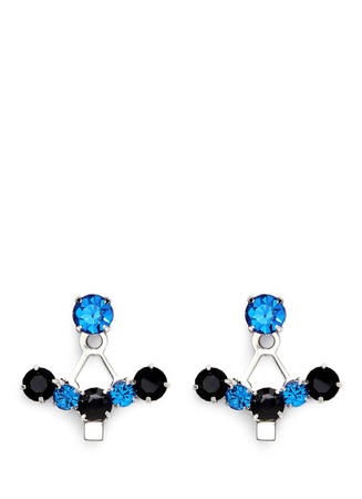 'Pixel Perfect' cube crystal ear deco earrings