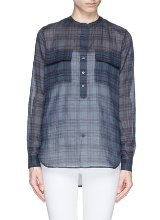 Plaid cotton tunic