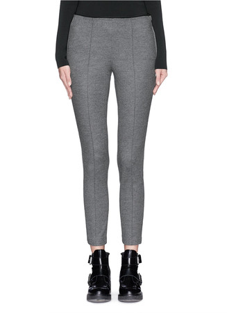 'Polly' wool Melton cropped pants