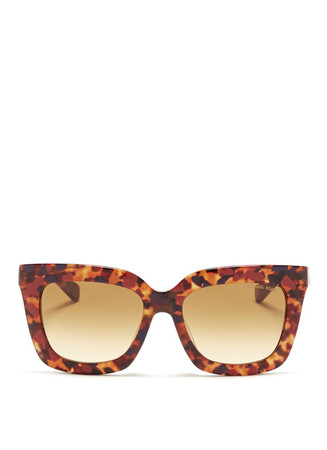 'Polynesia' contrast shell effect acetate sunglasses