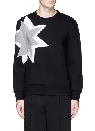 Pop art star bonded jersey sweatshirt