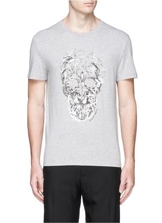 Porcelain skull print T-shirt