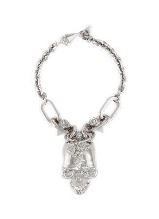 Punk rose skull chain bracelet