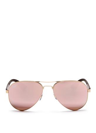 'RB3523' metal aviator mirror sunglasses