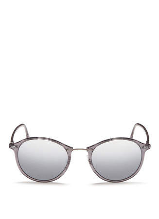'RB4242 Light Ray' titanium temple round sunglasses
