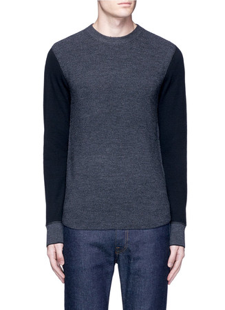 'Radford' contrast front thermal sweater