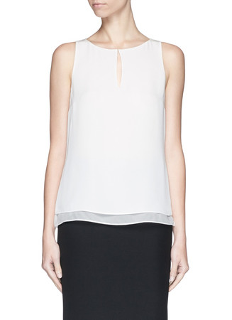 'Raica' silk sleeveless blouse