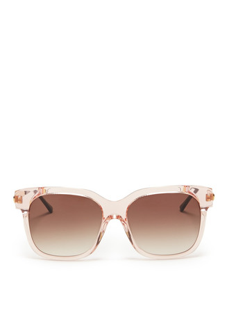 'Rapsody' clear square-frame sunglasses