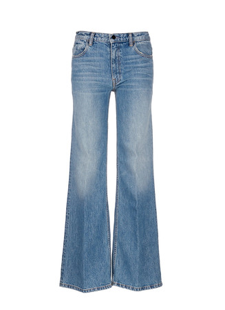 'Rave' light wash wide leg jeans