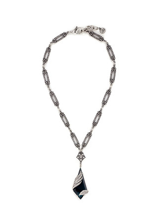 'Reflection' pavé Montana glass crystal pendant necklace
