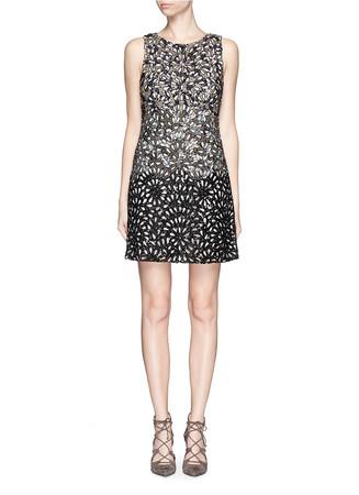 'Remi' embellished ombré effect dress