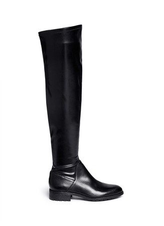'Remi' stretch leather thigh high boots