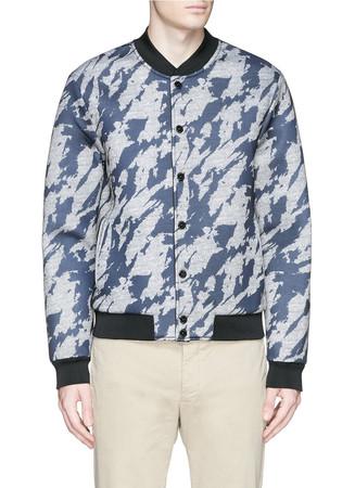 Reversible camouflage print bomber jacket